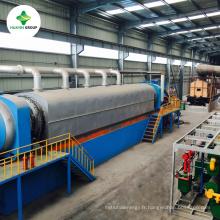 CE SGS certificats déchiquetage entièrement continu pneus pyrolyse à la machine à huile