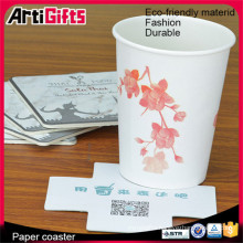 China factory supply print wholesale hotel disposable paper coaster