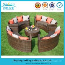 New Style Outdoor Round Vintage Patio Round Sofa Set