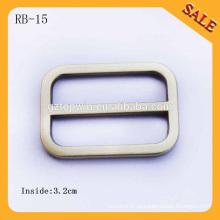 RB15 European Brush Antique Latão Handbag Round Metal Slide Bar Fivelas