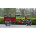 Pas de tricycle électrique avec 2 sièges passagers