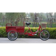 Nenhum triciclo elétrico com 2 assentos de passageiros