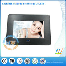 fashion brushed metal frame 7 inch digital photo frame