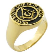 18k Gold Custom Design Cadeaux Souvenirs Anneau maçonnique