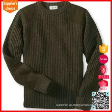 Clásico estilo militar suéter de lana hombres jersey suéter uniforme militar