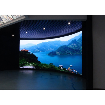 Indoor gebogen LED-display met naadloos combinatiekabinet