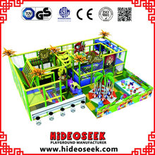 Jungle Style Children Indoor Playground para niños con arena
