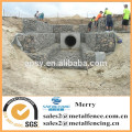 1.5mX1mX0.5m galvanized Galfan 3mm Gabion stone basket for lake and resevoir created