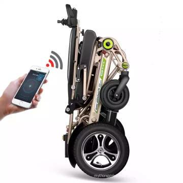 Sillas de ruedas eléctricas plegables inteligentes totalmente automáticas.