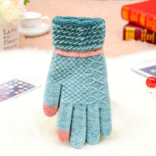 Custom Wholesale Warm Winter Women Man Acrylic Knit Snowboard Fashion Gloves
