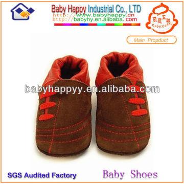 Venta al por mayor alta calidad respirable unisex antideslizante con los mejores zapatos del pesebre del bebé del precio