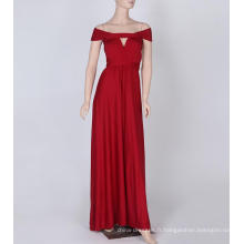 Was Thin and No Ribs Ribbons longue robe de demoiselle d'honneur