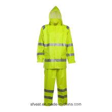 Chaqueta de trabajo impermeable de invierno con material de alta visibilidad resistente al fuego
