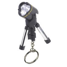 LED 3 * AG13 mini şekli plastik tripod Anahtarlık lamba