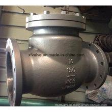 Válvula de retención de balanceo Wcb RF de acero de carbono 150lb / 300lb