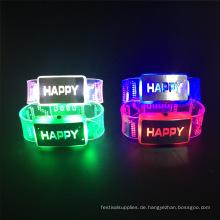 neues Jahr 2017 Ehe Dekoration glücklich blinkend LED Armband