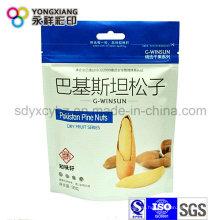 Größe Customized Nuts Stand Up Bag mit Ziplock und Handloch