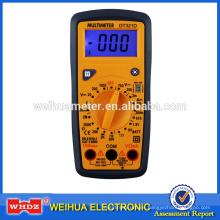 Multímetro de mano DT321D con prueba de batería de luz de fondo