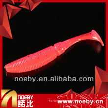 NOEBY double-color shrimp fragrance & luminous soft grub lure