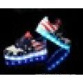 Unisex USB charging flag pattern LED sneaker shoes for children