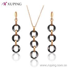 Xuping мода позолоченные овальные круги ювелирные изделия керамические (63829) в ювелирные изделия из нержавеющей стали
