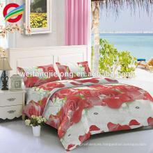 conjunto de ropa de cama de poliéster conjunto de colcha de impresión de impresión dispersa colcha china