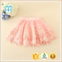 niñas en venta faldas de encaje adornos bebé caliente venta faldas de buena calidad rosa negro menta amarillo faldas cortas niños encantadores