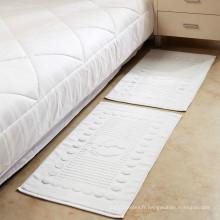 coton jacquard cadre broderie spa tapis de sol serviette