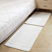 toalha do tapete do assoalho do spa do bordado do quadro do jacquard do algodão