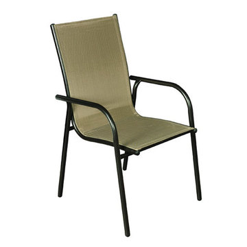 Outdoor sling furniture-sling dining/leisure chair
