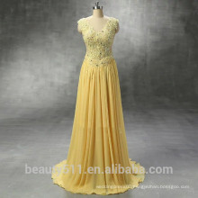New Style Custom Made sexy Elegant A-line scoop Backless chiffon with beading long evening dress prom dresses ED574