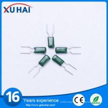 De buena calidad condensador verde de alta tensión de película de poliéster