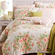 Conjunto de roupa de cama 100% algodão/poliéster Floral quarto em casa