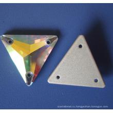 Кристалл шить на каменных одежда одевания аксессуар плоской задней панелью с двумя отверстиями (3041-3070)