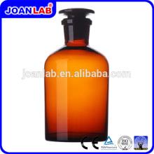 JOAN Botella de reactivo de vidrio ámbar de boca ancha para uso en laboratorio