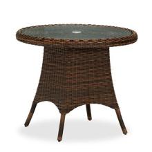 Смолы патио ротанга плетеная сад открытый обеденный стол