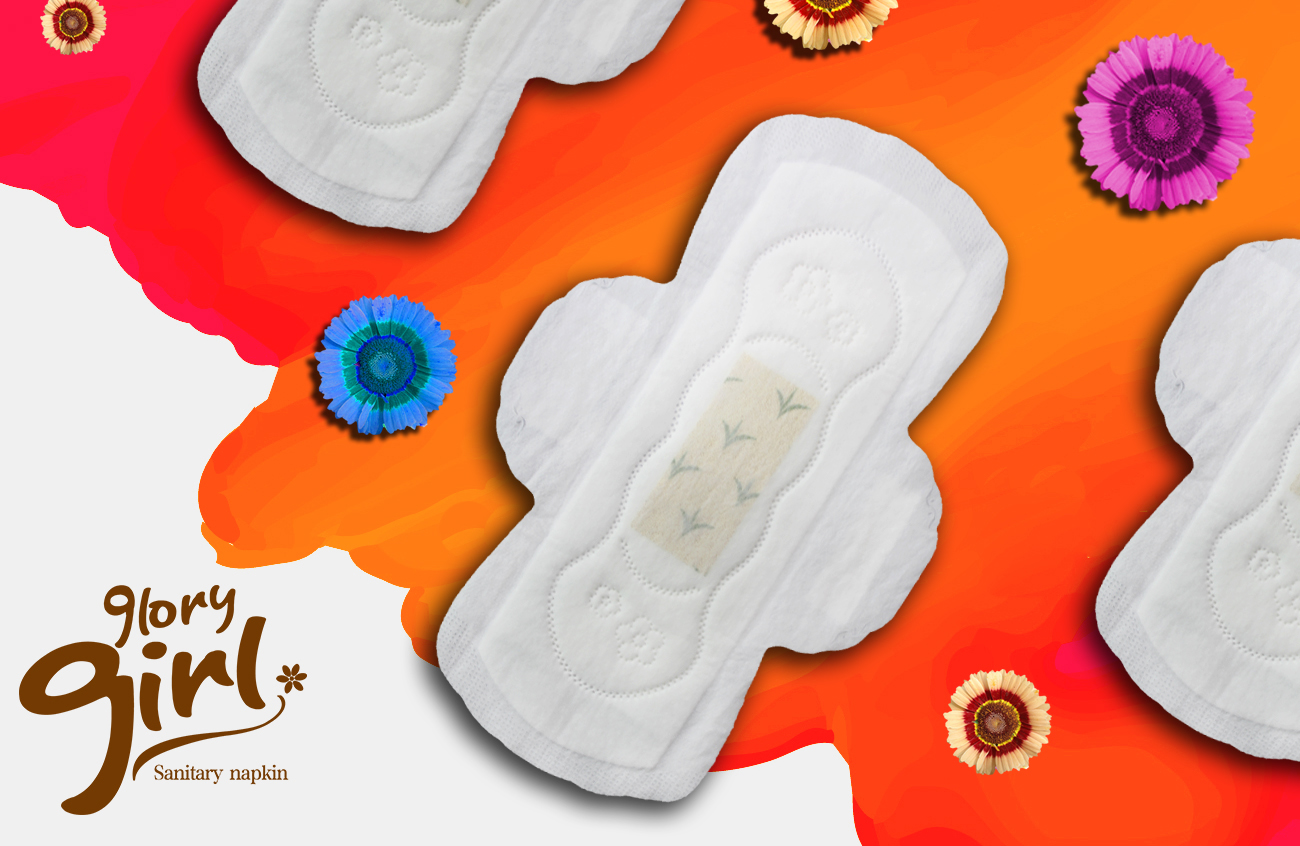 Herbal medicated butterfly sanitary napkins