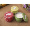 La última vela artesanal personalizada de soja pura para vacaciones