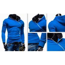 Long Sleeve Inclined Zipper Men Pullover Fleeces Pull
