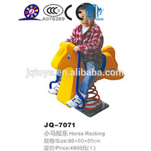 2016 cheap kids outdoor plastic spring rocking horse