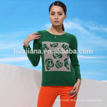2016 design woman's cashmere crewneck sweater