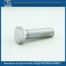 M12*70mm High Tension Steel Galvanized Hex Bolts