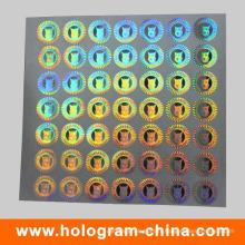Autocollant holographique 3d argent hologramme laser 2D
