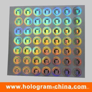 DOT Matrix Hologramm Aufkleber Regenbogen Holographic Printing