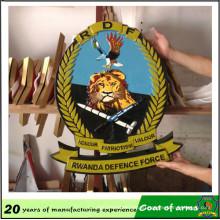 Customized Rwanda 3D Metal Emblem