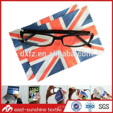 hot selling beautiful photo printed microfiber eyeglasses cleaning cloth