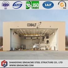 Estructura de acero Gabled Frame Garajed Aircraft Hangar para helicóptero