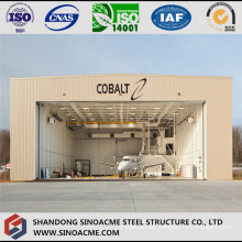 Steel Structure Light Gabled Frame Aircraft Hangar for Helicopter