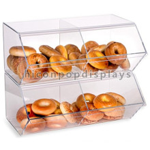 Cookie Einzelhandel Store Custom Counter Top 2-Layer 4 Taschen Clear Acryl Cupcake Donut Display Fall