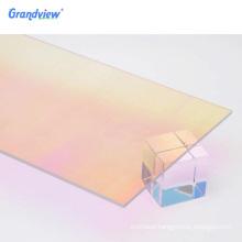 Iridescent rainbow acrylic color mirror acrylic marble sheets samples